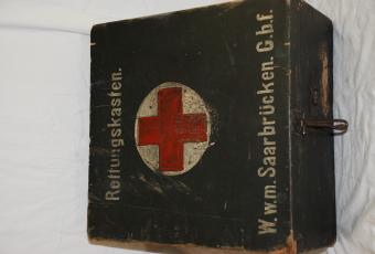 Red Cross Wood Box